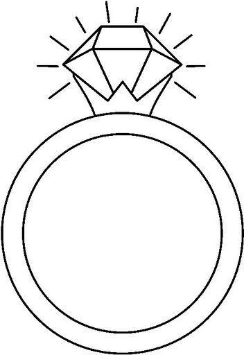 Desenhos de anel para colorir, pintar, imprimir! Anéis