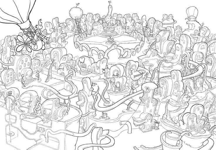 17 best images about the act 39 s seussical set and costume for Seussical coloring pages