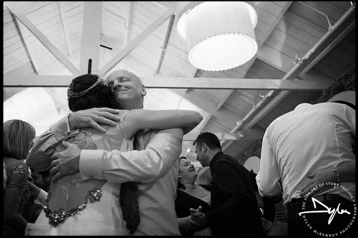 Father and daughter sharing a moment - Wedding at Ballymagarvey Village  --- Photographs by Dylan McBurney