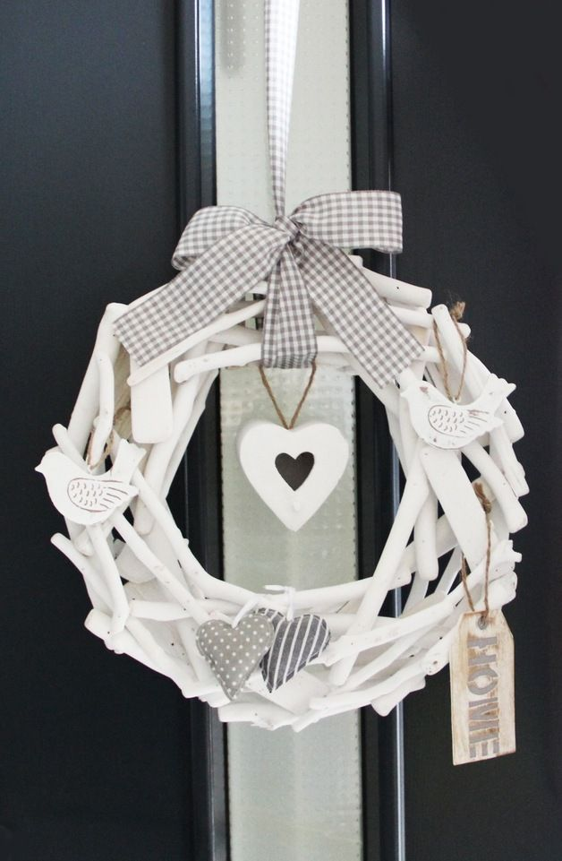 Türkränze - Türkranz ~ White & Grey ~ - ein Designerstück von EuliundCo bei DaWanda