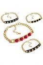 Colored Spikes Bracelet  #Romwe