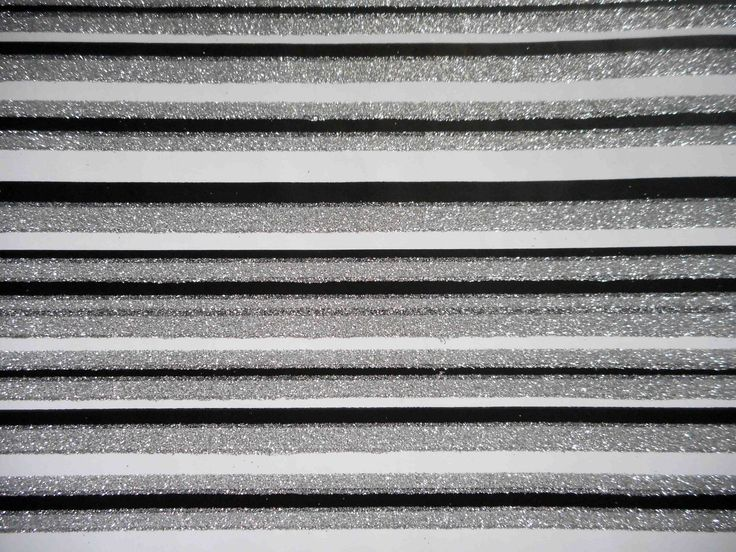 Thick, striped specialty paper from Europe, white black and silver glitter. From the collection of tengds.