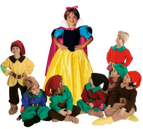 Disfraces infantiles de Blancanieves y los 7 enanitos