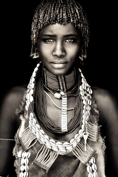 Young Hamar Woman, Ethiopia.  From African Portraits by Dutch photographer Mario Gerth.