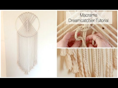 How To Make A Macrame Wall Hanging Dreamcatcher: In this tutorial, I show you how to make a Macrame Dreamcatcher Wall Hanging. This design is perfect for beg...