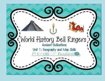 World History Bell Ringers- Unit 1-Geography and Map Skills
