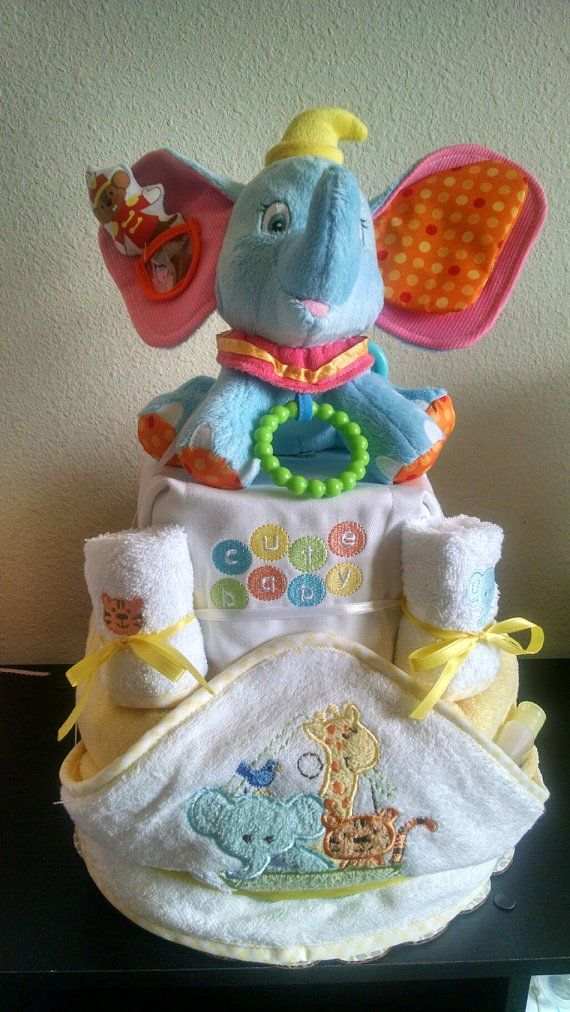 Dumbo Diaper Cake by AngelKissDesign on Etsy | baby in ...