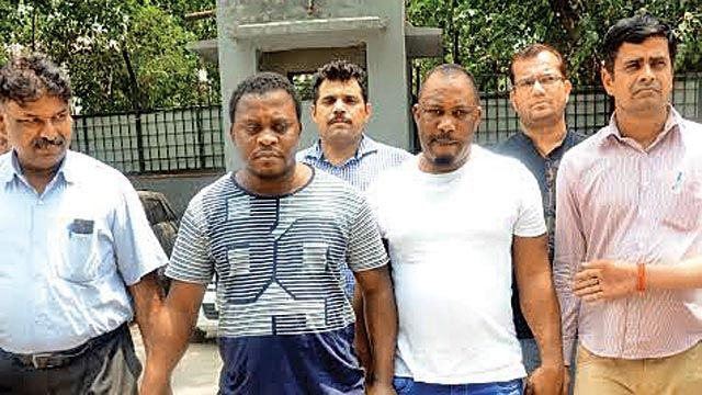 3 Nigerian Yahoo-yahoo Boys and a Woman Arrested in India for Duping People Using Fake Online Lottery