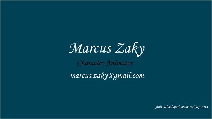 AnimSchool Graduation Reel - Marcus Zaky - Sep 2014 on Vimeo