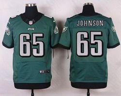 Nike Philadelphia Eagles Jersey 65 Lane Johnson Midnight Green Team Color Men's Stitched NFL Elite Jerseys