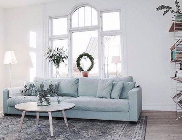Valen XL turkos, dun, soffa, djup, rymlig, vardagsrum, linne, blå, möbler, inredning.