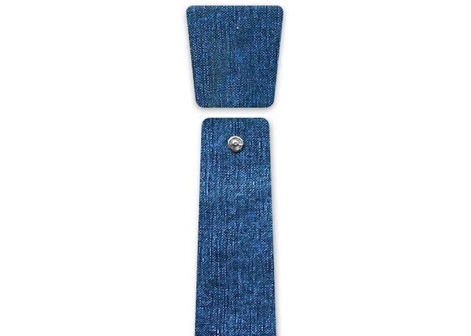 Eclepti Dangle_Denim_50% hemp 50% denim  #modular #accessory #neckwear #madeinitaly #noknots #tie #cravatta #man #style #double #side #eclectic #eclepti #denim