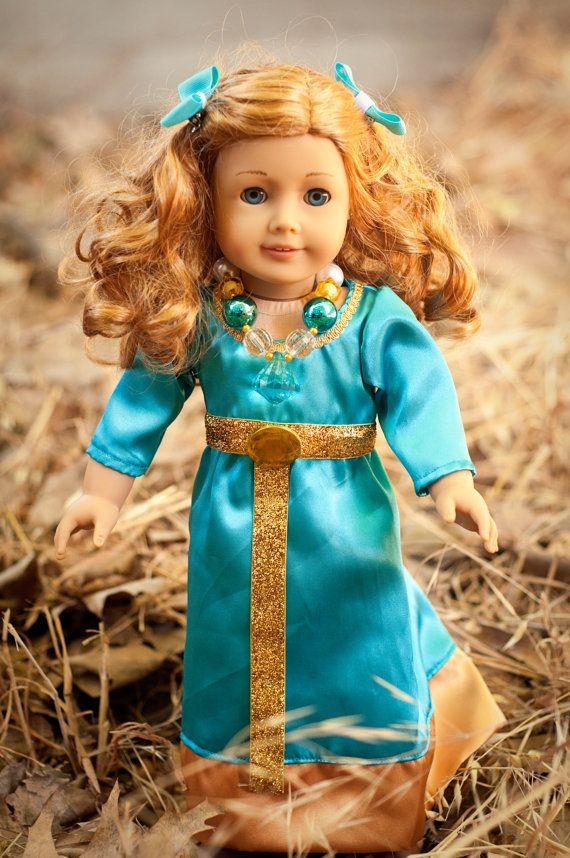 Merida Aqua Outfit for American Girl Doll by hollyberrysdolls, $25.00