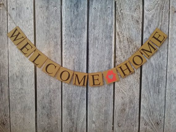 WELCOME HOME banner, welcome banner military welcome home banner, realtor new home gift, welcome home sign, homecoming banner, new home gift