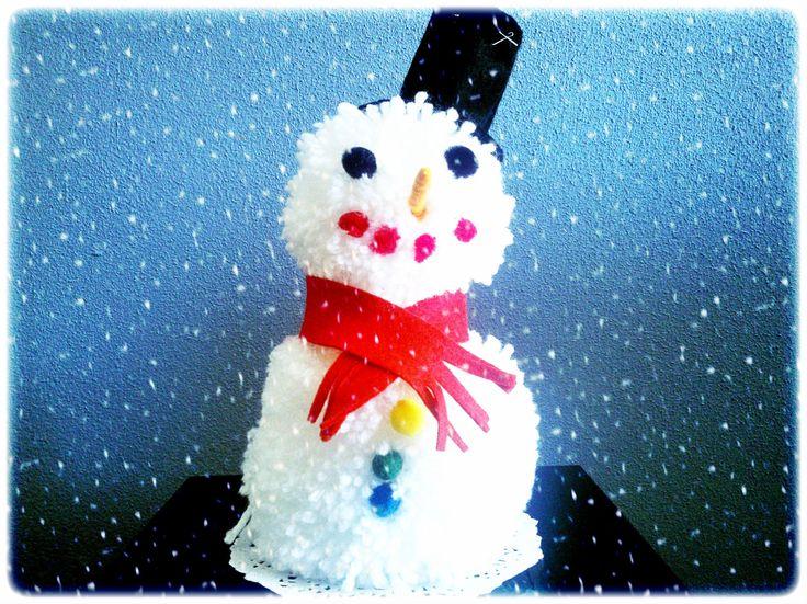 Winterknutsels: warme wollige sneeuwman