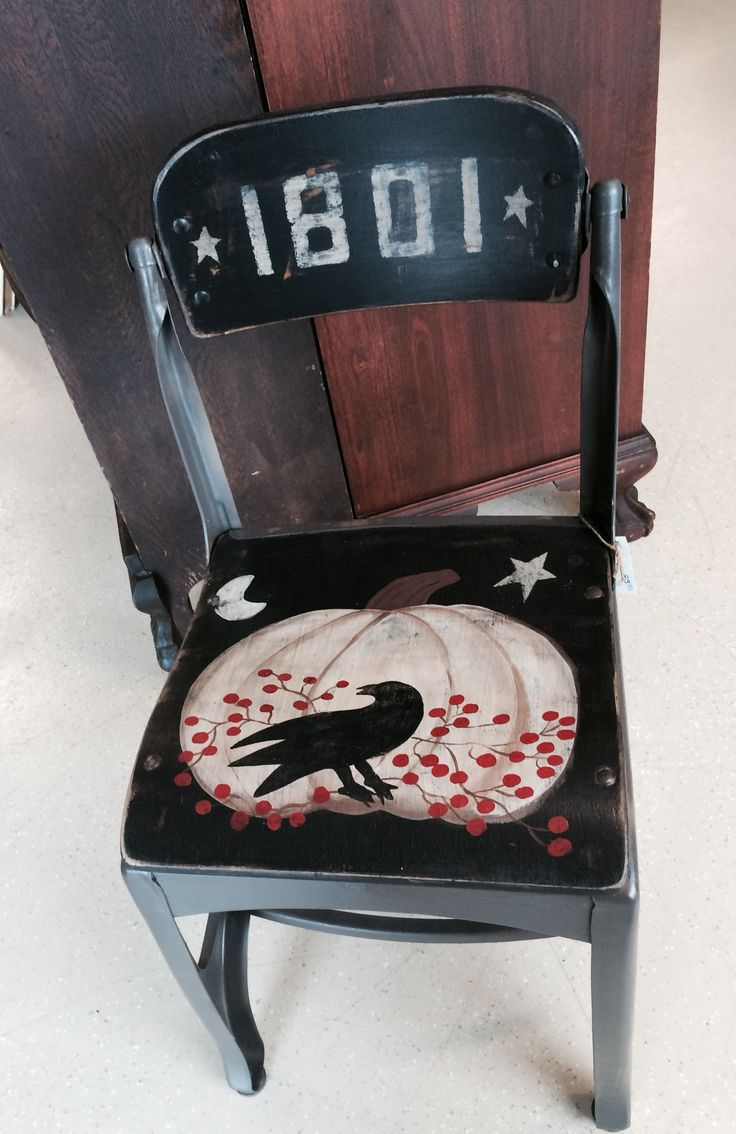 Primitive crow chair - Cat Knapp