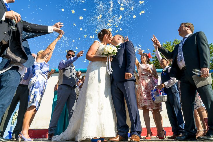 We can avoid the Greek tradition for Good Luck - Throwing rice and petals - Happy couple - Happy moments  #chapelwedding #weddingingreece #mythosweddings #kefalonia