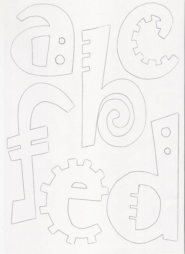 Moldes de letras del abecedario para ampliar o reducir y realizar carteles, manualidades, pintura. etc. Para descargar estos moldes de letra...