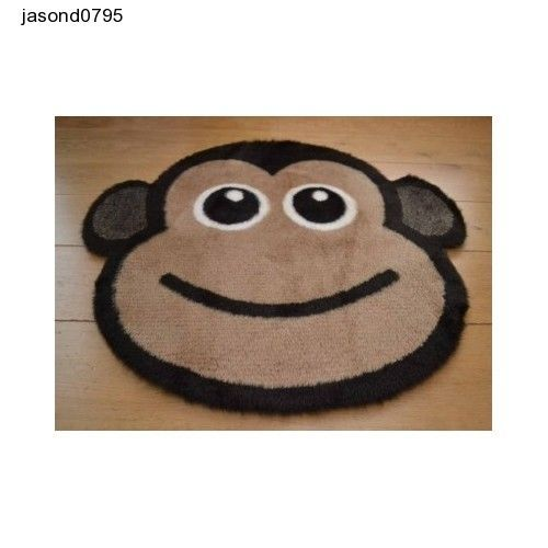Cheeky Monkey Bedside Rug Fluffy Non Slip Machine Washable Sheepskin mat