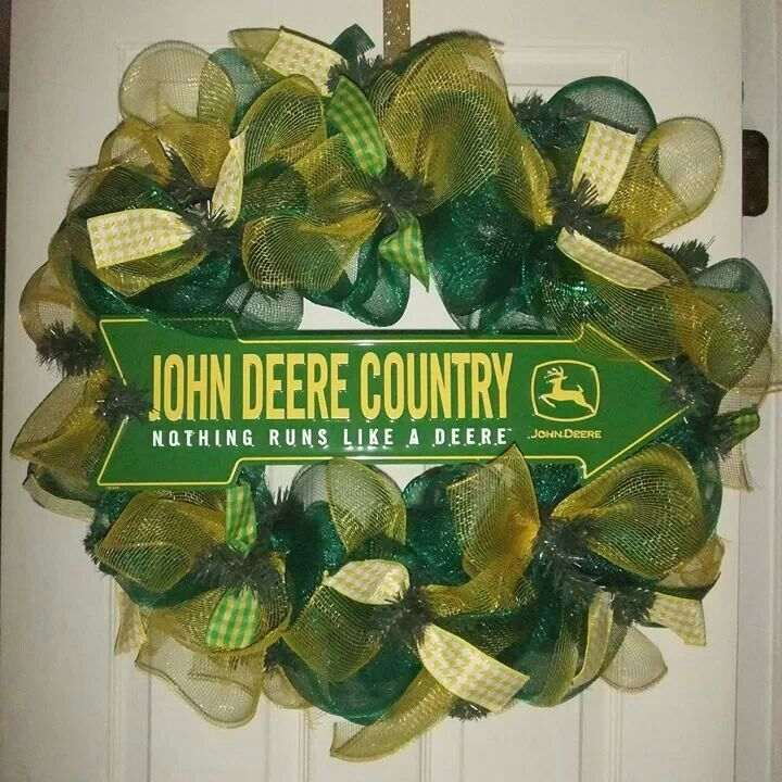 John Deere Kitchen Ideas: 51 Best Images About JOHN DEERE WREATHS On Pinterest