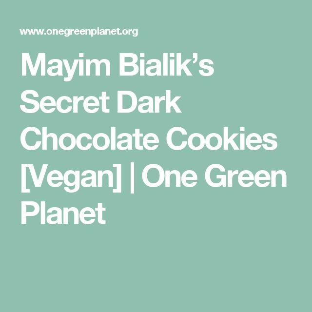 Mayim Bialik's Secret Dark Chocolate Cookies [Vegan]   One Green Planet