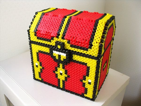 17 best images about patterns perler bead patterns legend of zelda treasure box perler beads