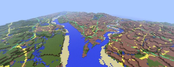 Screenshot from Ordnance Survey's Minecraft Map of Great Britain