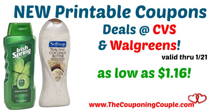 AWESOME *NEW* Coupons makes for GREAT deals this week! New Irish Spring & Softsoap Body Wash Printable Coupons + Deals @ CVS + Walgreens!  Click the link below to get all of the details ► http://www.thecouponingcouple.com/new-irish-spring-body-wash-printable-coupons-deals-cvs-walgreens/ #Coupons #Couponing #CouponCommunity  Visit us at http://www.thecouponingcouple.com for more great posts!