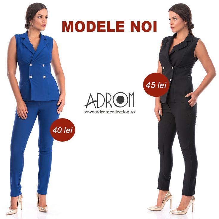 Comandă și tu noile modele marca Adrom Collection și oferă-le clientelor tale haine în ultimele tendințe. Pantalonii P098 și vestele V011 se pot purta atât separat, cât și împreună. Veste: http://www.adromcollection.ro/785-vesta-angro-v011.html Pantaloni: http://www.adromcollection.ro/784-pantaloni-angro-p098.html