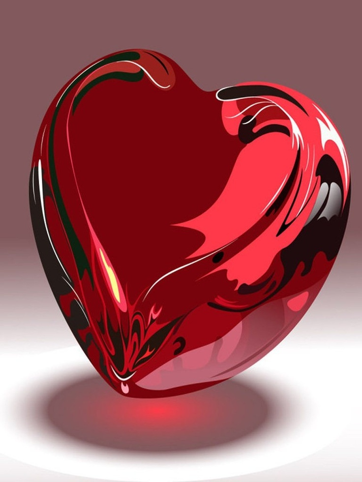 ♥ Valentine's Day ♥ Red Glass Heart