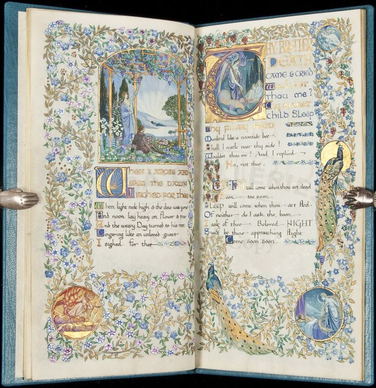 Lot: 307: Gorgeous Illuminated Manuscript by Jessie Bayes, Lot Number: 0307, Starting Bid: $15,000, Auctioneer: PBA Galleries, Auction: Fine Literature & Books in All Fields , Date: October 6th, 2011 CDT
