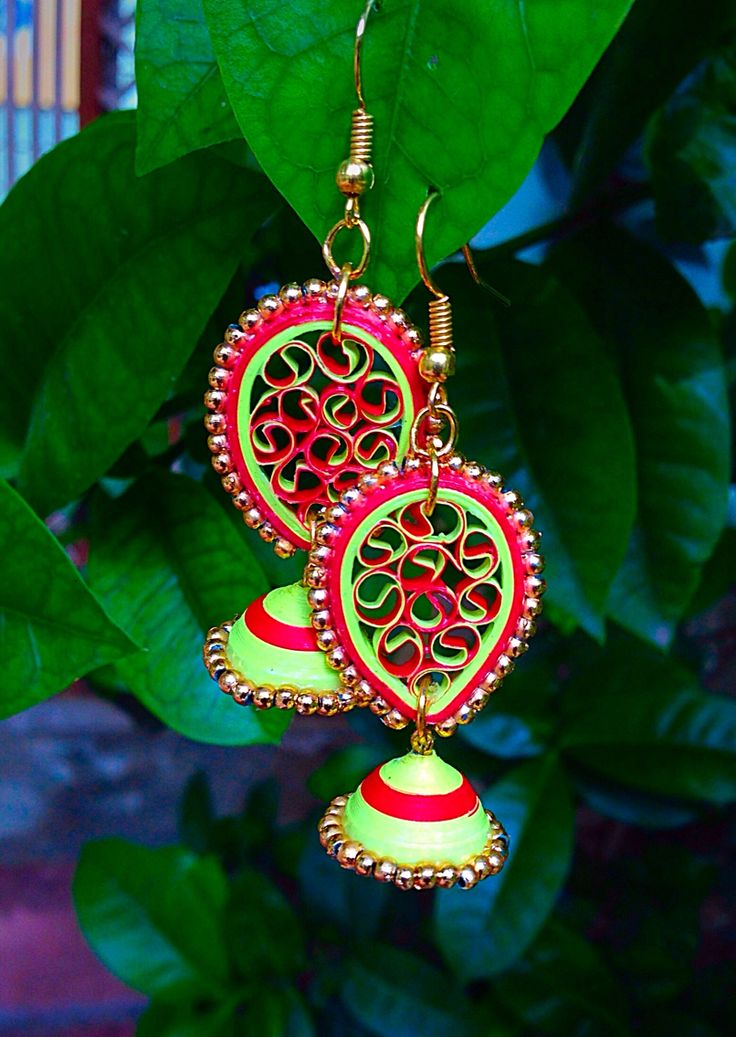 Quilled(Honey comb) earrings