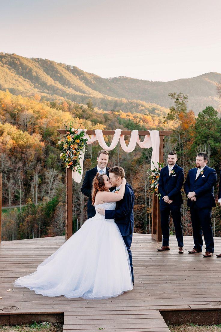 Fall wedding at mountain mist farm in pigeon