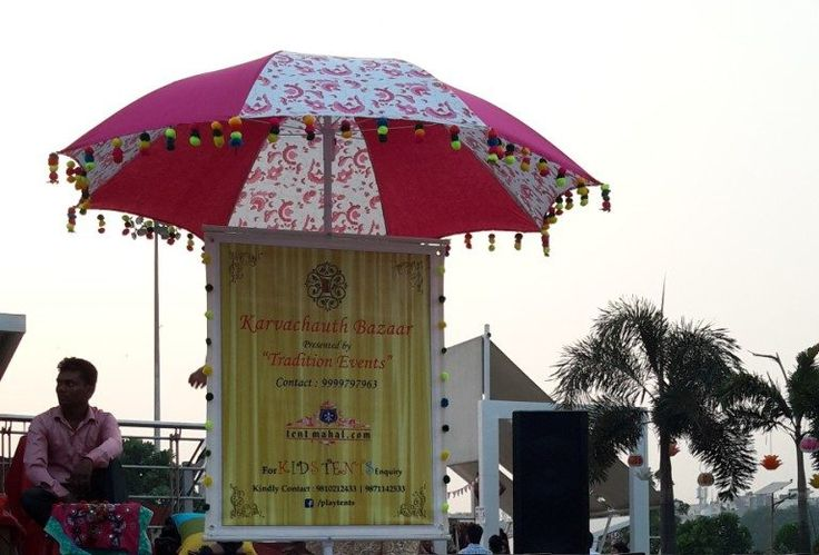 Promotional umbrellas can be used as Sign boards at parties.