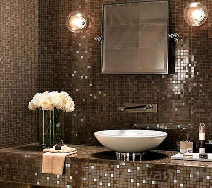 Итальянская мозаика в дизайне ванной