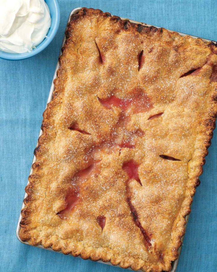 Strawberry-Rhubarb Slab Pie
