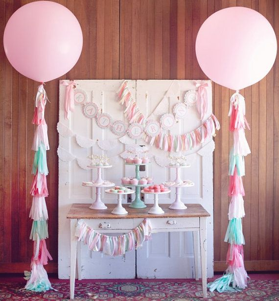 CUSTOM 2 pink or 2 white 36 latex balloons with 20 by ohtobehappy