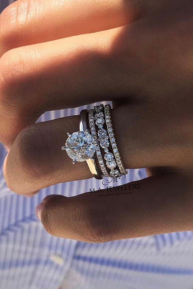 39 The Most Beautiful Gold Engagement Rings Diamond Wedding Sets