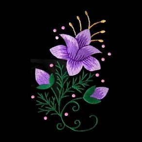 polish9 - Floral Embroidery Design