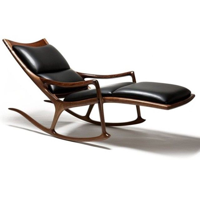Happy New year everyone! This picture should brighten up your day! #sammaloofwoodworker #maloof #chase #rocker #lounge #walnut #leather #finewoodworking #finefurniture #woodworking #custom #handmade #art #heirloom #OnePercent #all_the_good_wood