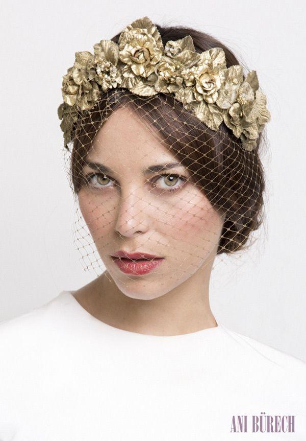 La nueva colección de Ani Bürech para novias #boda #complementos #tocados