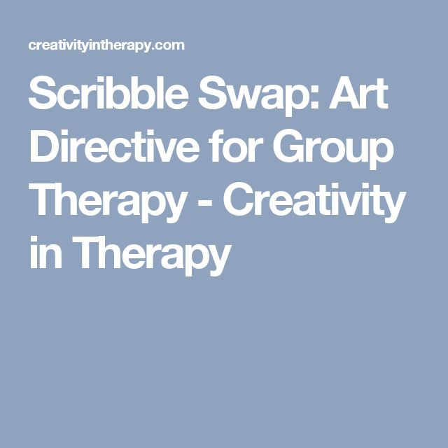 Scribble Drawing Therapy : Scribble swap art directive for group therapy