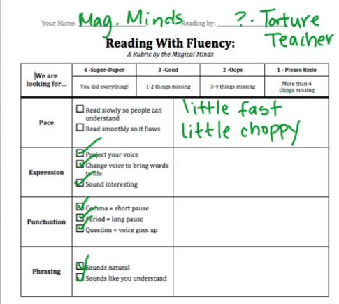 13 best Reading Aloud - Checklists images on Pinterest School - sample presentation evaluation