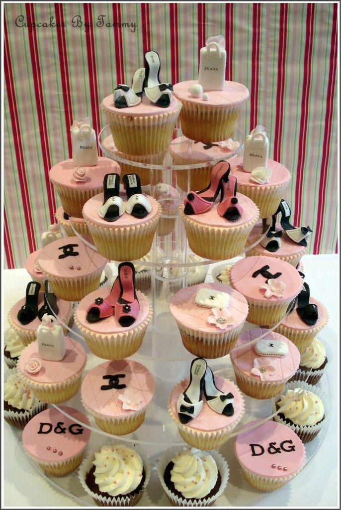 These are adorable.  I am not a sex and the city fan.  But these would make cute cupcakes for a dress up girls birthday party