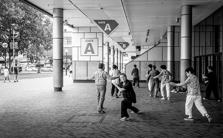 https://flic.kr/p/qgWBZR | Falundafa | People exercising falundafa  in Darling Barbour, Sydney, Australia.