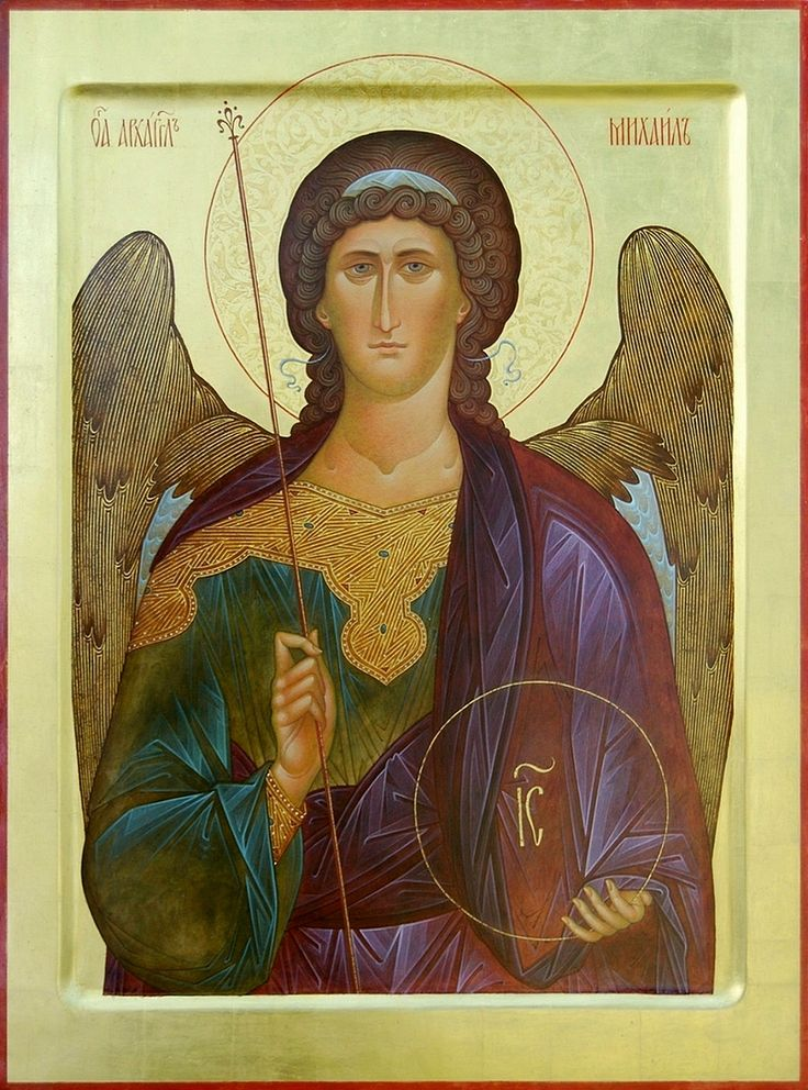 "St. archangel Michael. 2006. Wood, gesso, tempera, gilding. 19,69""x 14,57"". Church of the Most Holy Theotokos ""Inexhaustible Cup"" in Brooklyn, NYC (USA)."