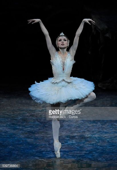 Irina Dvorovenko as Odette performs in American Ballet Theatre's production of 'Swan Lake' at the London Coliseum. (Photo by robbie jack/Corbis via Getty Images)
