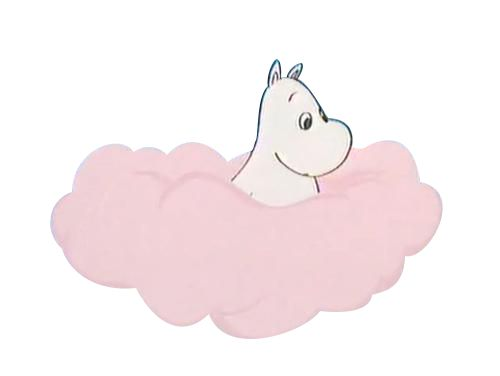 "winkingrabbit: "" a little transparent cloud moomin to make your day/blog/life better """