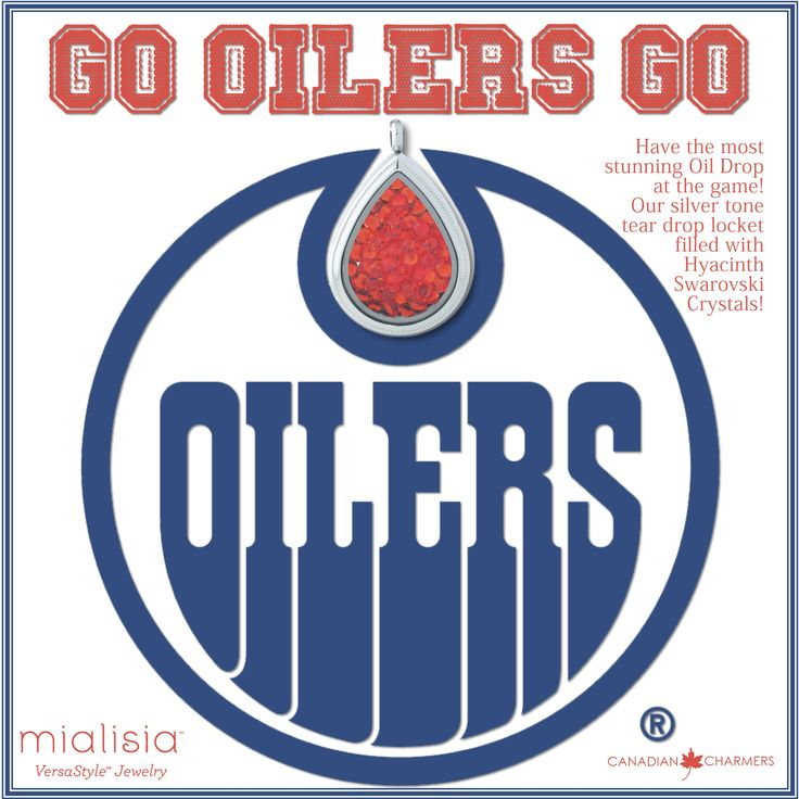 Okay... I know we're not supposed to use official logos. AND I know we're not going to the playoffs AGAIN. Don't worry - it's a rebuilding year. I think it's our tenth one! But as a hugely loyal Edmonton Oilers fan, I couldn't resist turning our brand new tear drop locket into an Oil Drop filled with Orange Hyacinth Swarovski crystals! :) #edmontonoilers #hockeywives #oilersfans #hockeybling #somedaystanley #maybenextyear