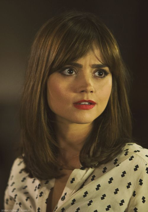 I never expected to find a style inspiration in Dr Who! Jenna Coleman's polished mid length locks and fringe are perfection!